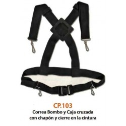 CP.103 Correa Cruzada Bombo y Caja Genuine Straps
