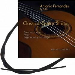 C302.910 Cuerdas Guitarra Clasica Antonio Fernandez Nylon Negro
