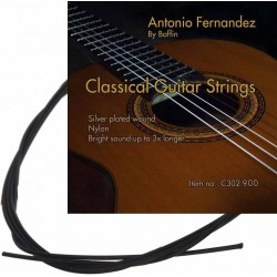 C302.910 Cuerdas Guitarra Clasica Antonio Fernandez Tension Media Nylon Negro
