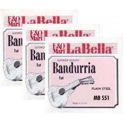 MB551 Primera Cuerda de Bandurria La Bella MB-550 (2 unidades)
