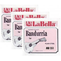 MB556 Sexta Cuerda de Bandurria La Bella MB-550 (2 unidades)