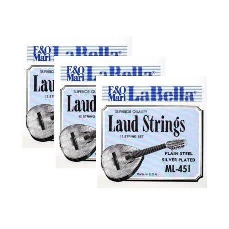 ML451 Primera Cuerda de Laud La Bella ML-450 (2 unidades)