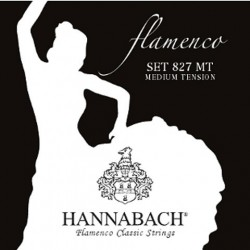 827MT Juago de Cuerdas Hannabach para Flamenco Tension Media