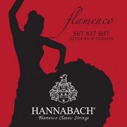827SHT Juago de Cuerdas Hannabach para Flamenco Tension Muy Alta