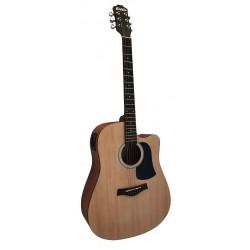 C331.650NMEQ Guitarra Electroacustica de Sapeli Mate y EQ con Afinador
