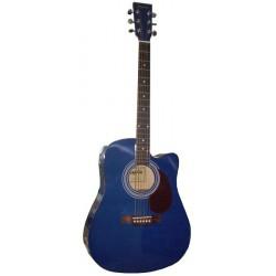 C331.650EQBL Guitarra Electroacustica Azul