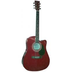 C331.650EQRD Guitarra Electroacustica Roja
