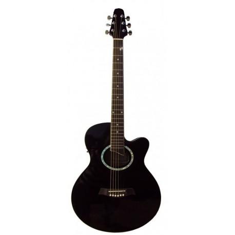C330.646BK Guitarra Acustica Mini Jumbo tipo APX NEGRA