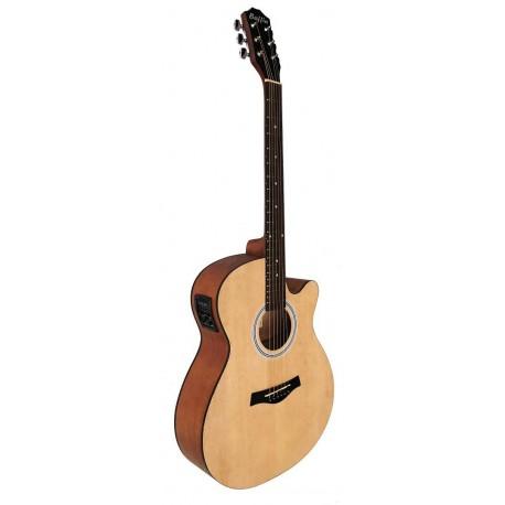 C331.646NMEQ Guitarra Electroacustica Mini Jumbo tipo APX de Sapeli Mate y EQ con Afinador