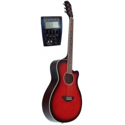 C331.646EQSB Guitarra Electroacustica Mini Jumbo tipo APX SUNBURST