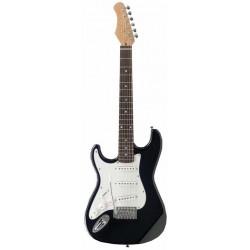 C350.230BKZ Guitarra Electrica Negra Zurdos Tipo Strato