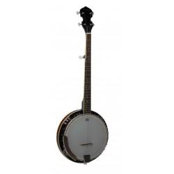 Banjo de 5 cuerdas con parche Remo y 22 tensores R.W. Jameson