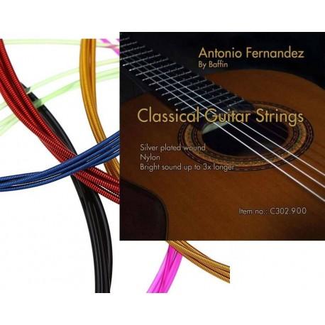 C302.918 Cuerdas Guitarra Clasica Antonio Fernandez de colores