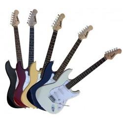 C350.230BK Guitarra Electrica Tipo Strato Negra Mate