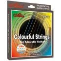A407C-SL Cuerdas Guitarra Acustica de colores