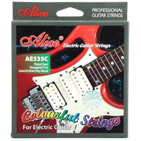 AE535C-SL Cuerdas Guitarra Electrica de colores