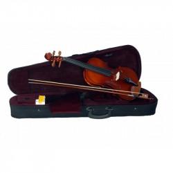 C370.344 Violin 4/4 Macizo con lamina de arce rizado. Piezas y clavijas de Wengue