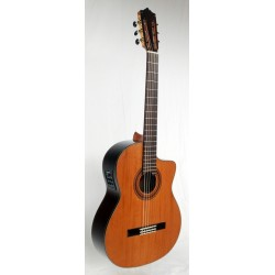 MTZ MCG-58C CE Guitarra Clasica EQ Fishman y tapa de Cedro